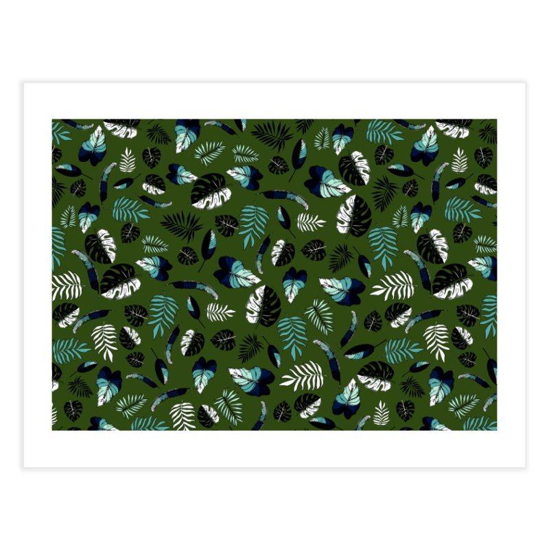 tropical leaves Home Fine Art Print by eleventy-five's Shop