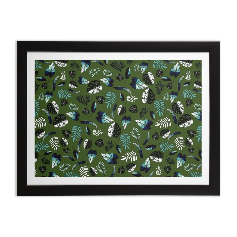 tropical leaves Home Framed Fine Art Print by eleventy-five's Shop