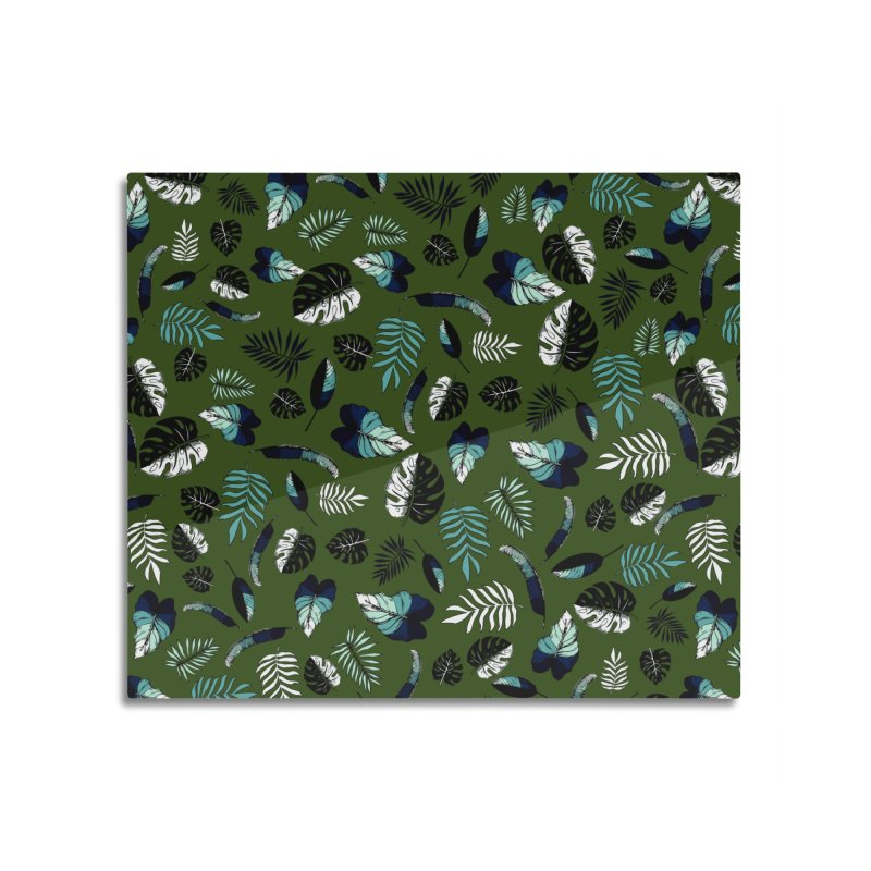 tropical leaves Home Mounted Aluminum Print by eleventy-five's Shop