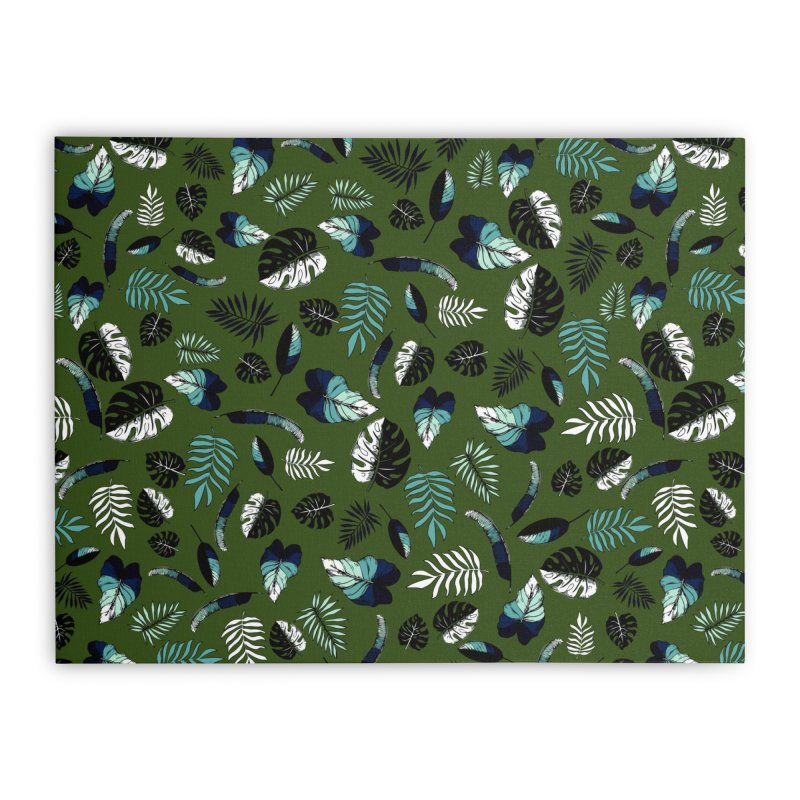 tropical leaves Home Stretched Canvas by eleventy-five's Shop