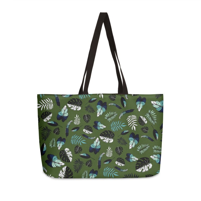 tropical leaves Accessories Weekender Bag Bag by eleventy-five's Shop