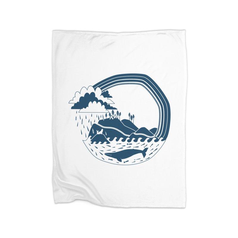 Pacific Coast Explorer Home Fleece Blanket Blanket by eleventy-five's Shop