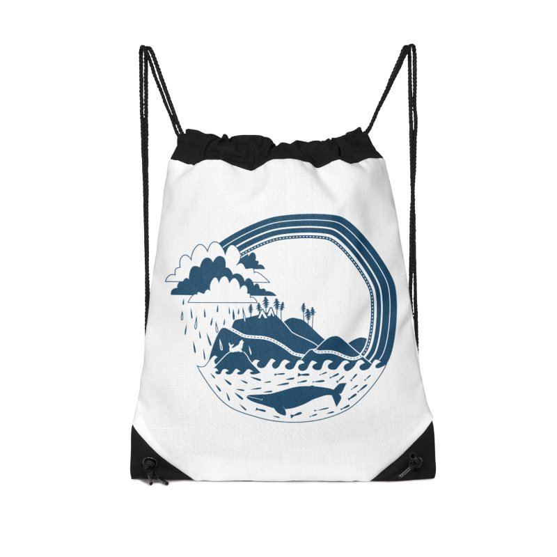 Pacific Coast Explorer Accessories Drawstring Bag Bag by eleventy-five's Shop