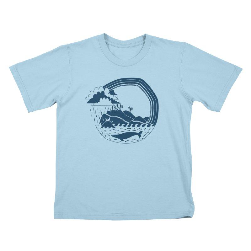 Pacific Coast Explorer Kids T-Shirt by eleventy-five's Shop
