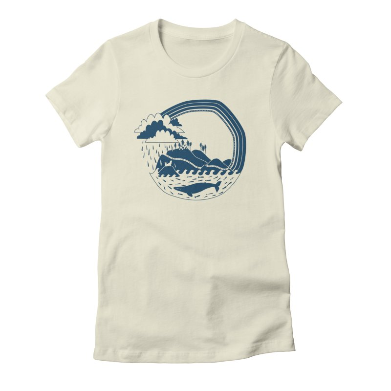 Pacific Coast Explorer Women's Fitted T-Shirt by eleventy-five's Shop