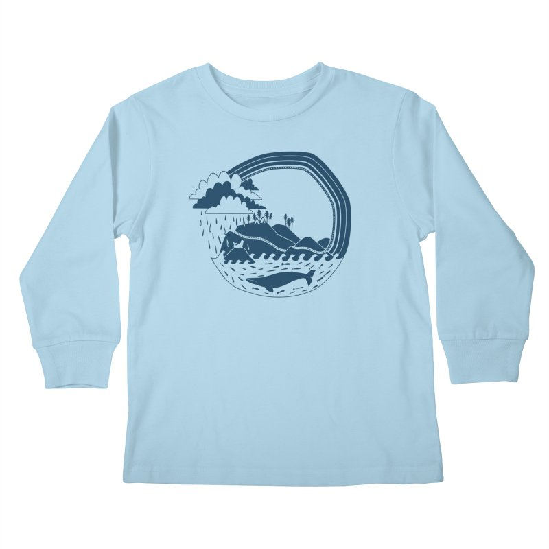 Pacific Coast Explorer Kids Longsleeve T-Shirt by eleventy-five's Shop