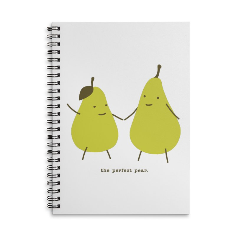 Perfect Pear Accessories Lined Spiral Notebook by eleventy-five's Shop