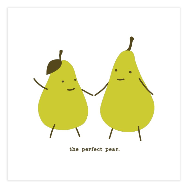 Perfect Pear Home Fine Art Print by eleventy-five's Shop
