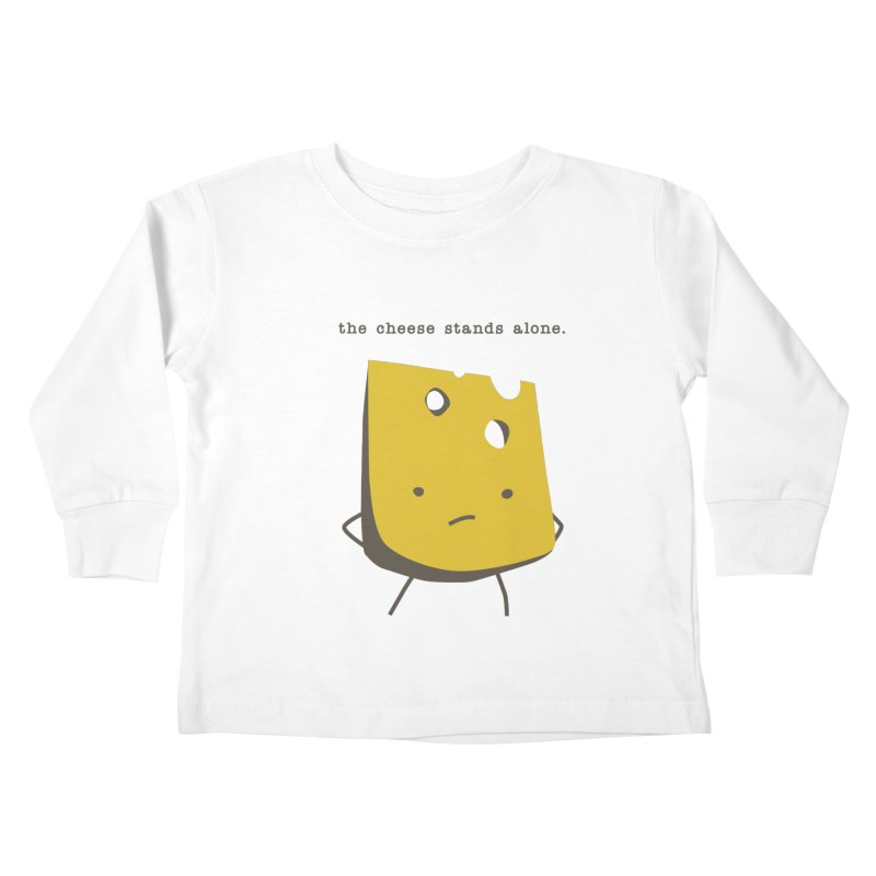 Lonely Cheese Kids Toddler Longsleeve T-Shirt by eleventy-five's Shop