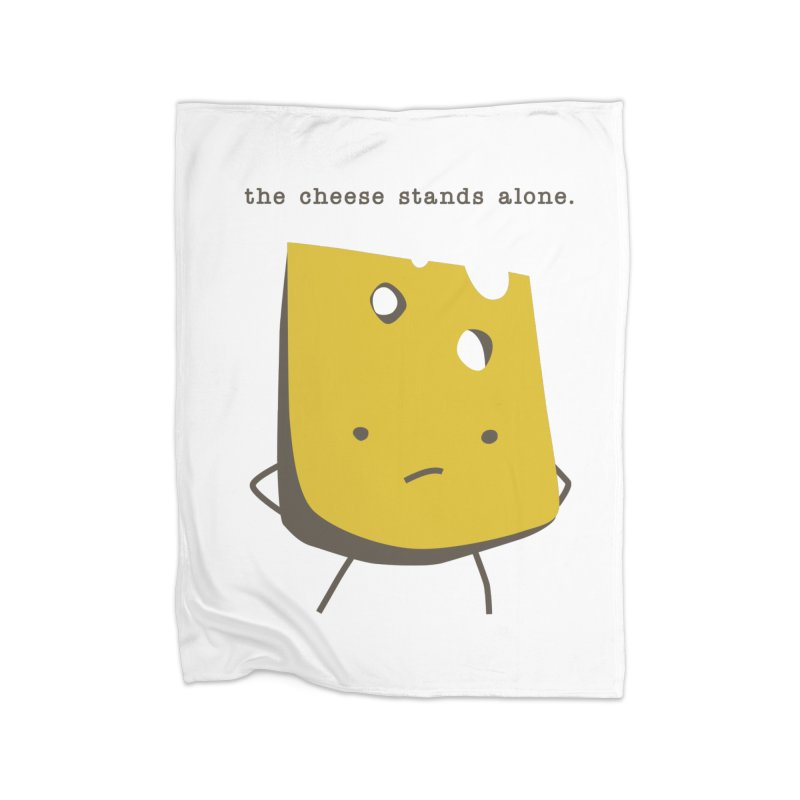 Lonely Cheese Home Fleece Blanket Blanket by eleventy-five's Shop
