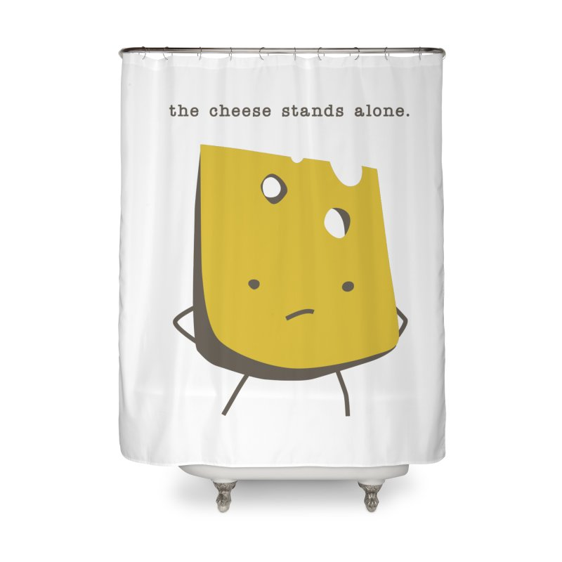 Lonely Cheese Home Shower Curtain by eleventy-five's Shop