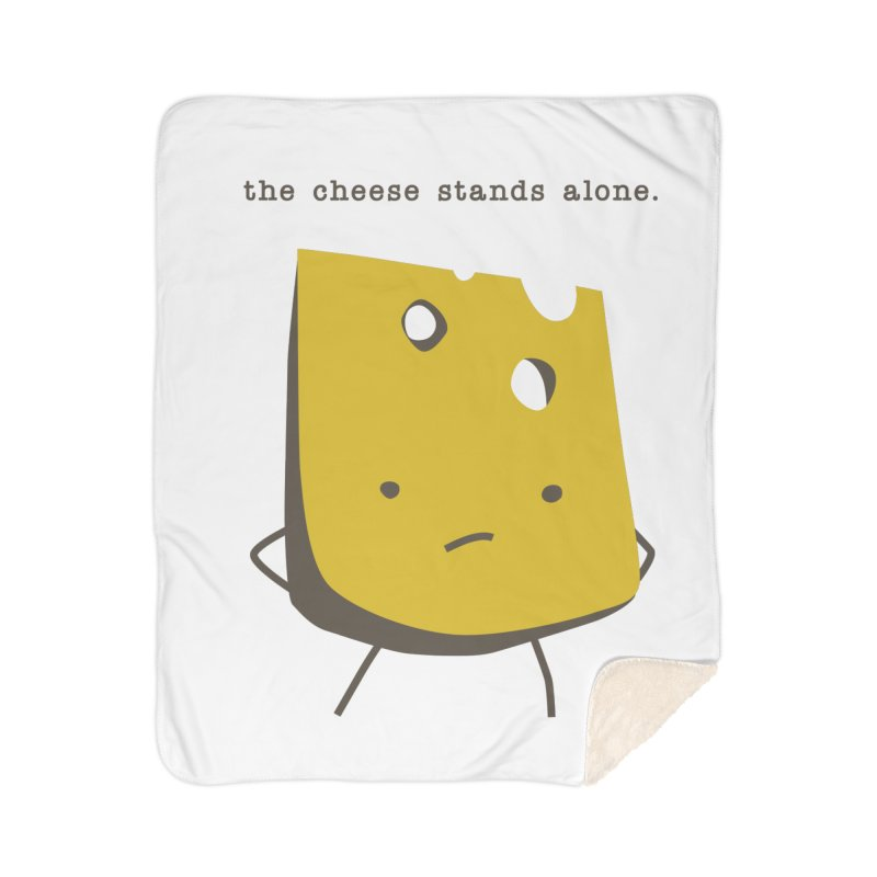 Lonely Cheese Home Sherpa Blanket Blanket by eleventy-five's Shop