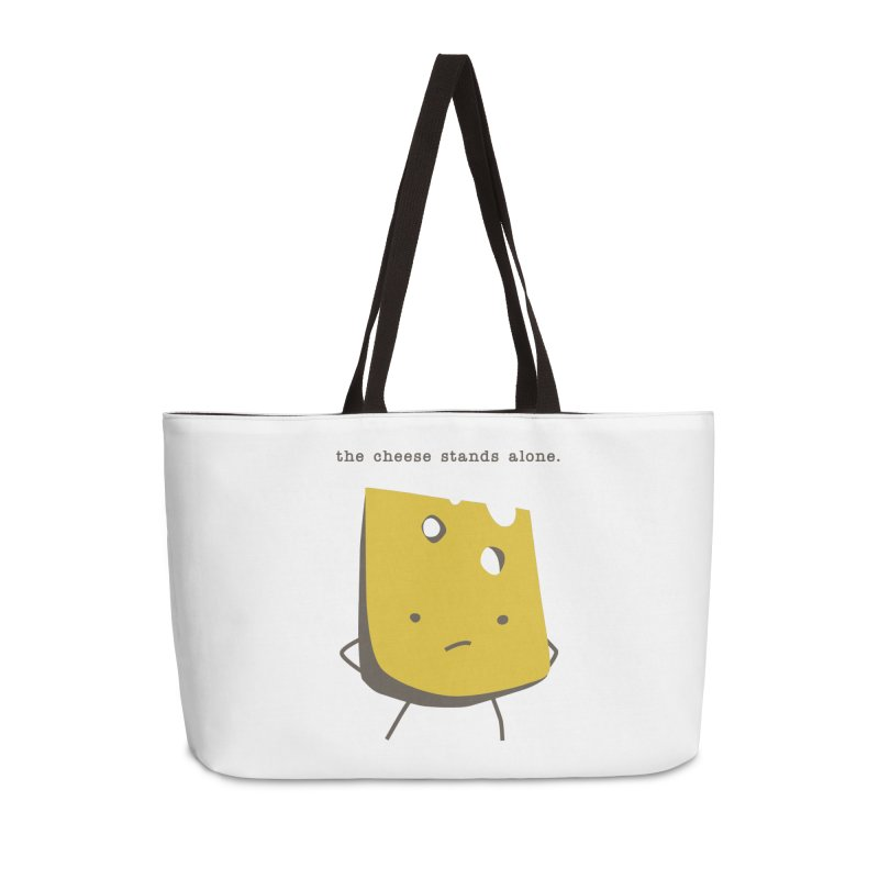 Lonely Cheese Accessories Weekender Bag Bag by eleventy-five's Shop