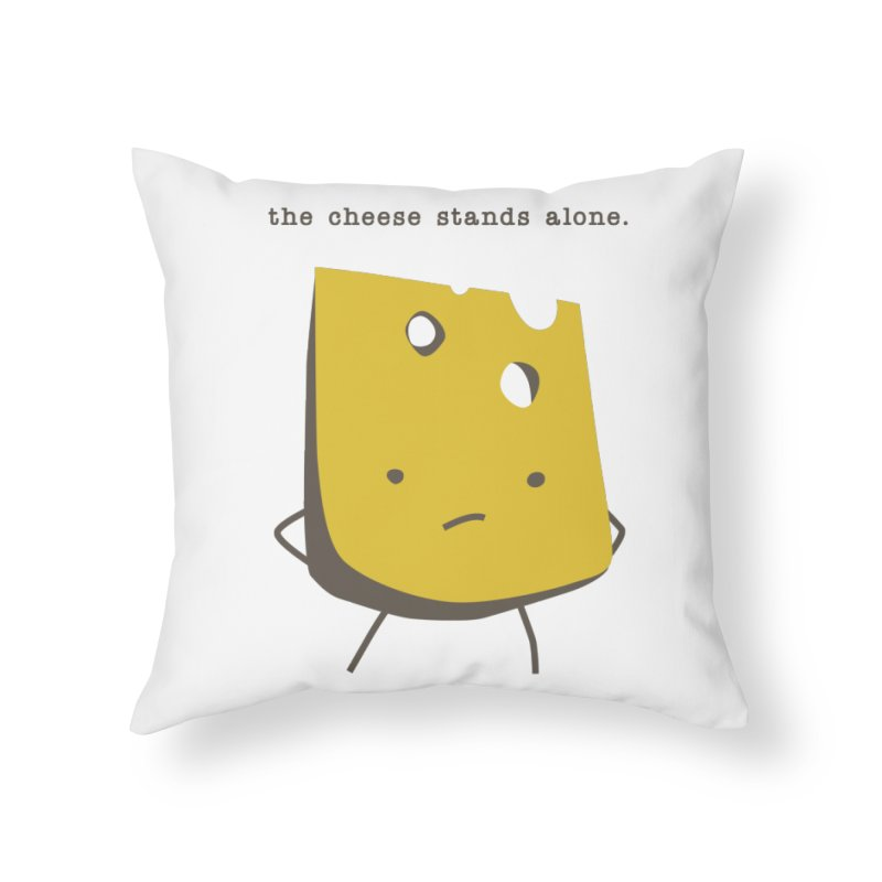 Lonely Cheese Home Throw Pillow by eleventy-five's Shop