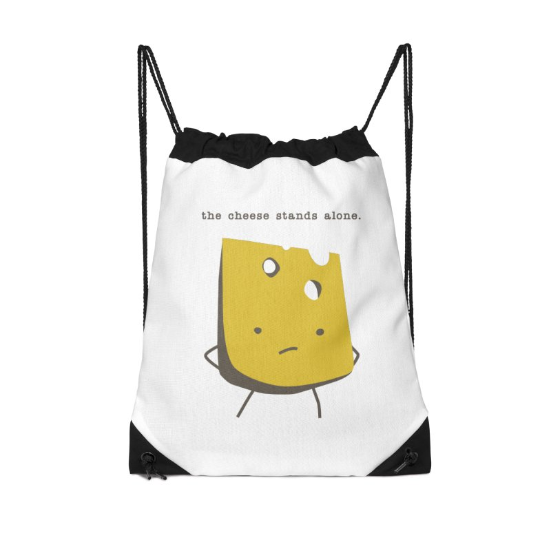 Lonely Cheese Accessories Drawstring Bag Bag by eleventy-five's Shop