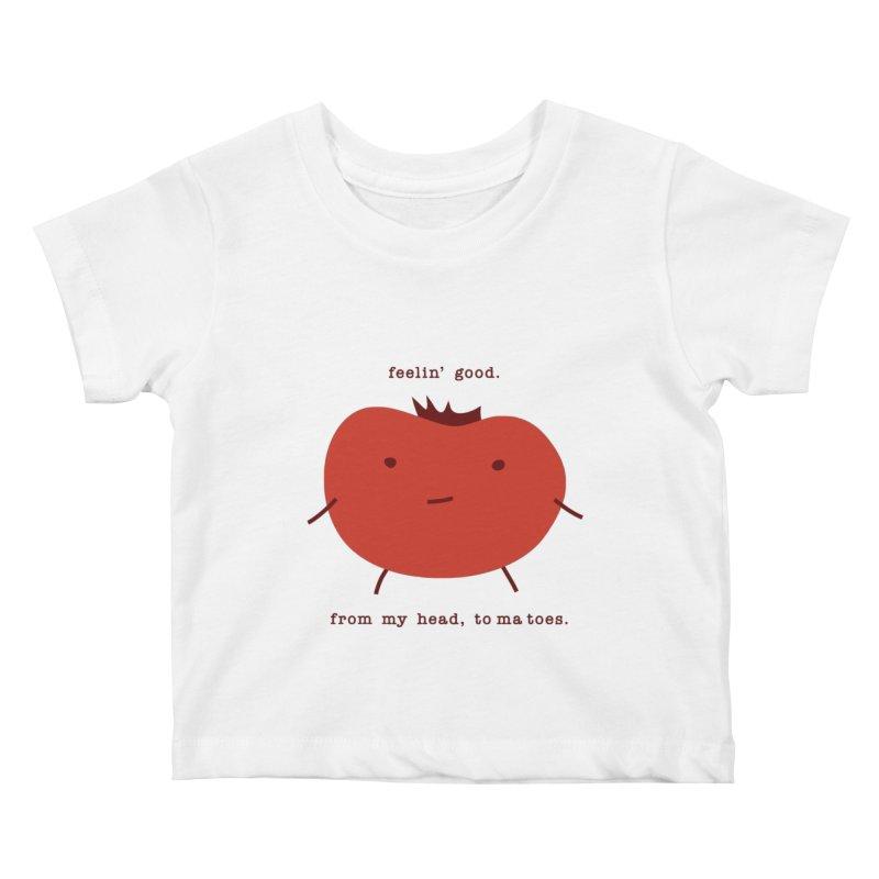 Good Feelings Tomato Kids Baby T-Shirt by eleventy-five's Shop