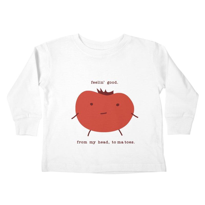 Good Feelings Tomato Kids Toddler Longsleeve T-Shirt by eleventy-five's Shop