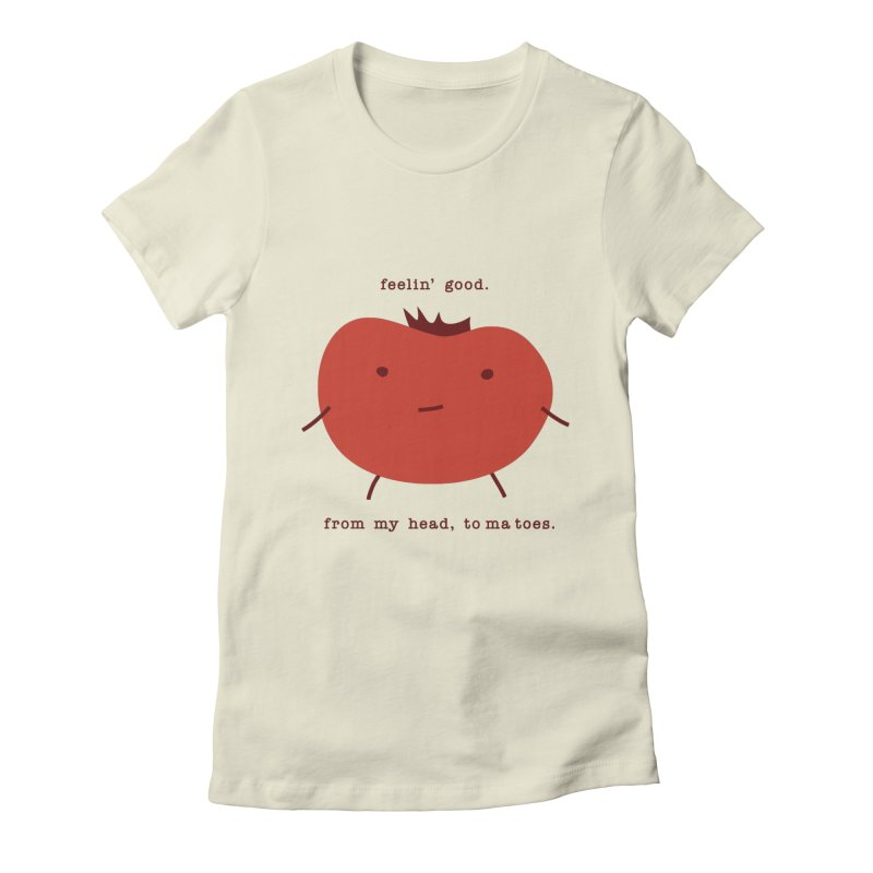 Good Feelings Tomato Women's Fitted T-Shirt by eleventy-five's Shop