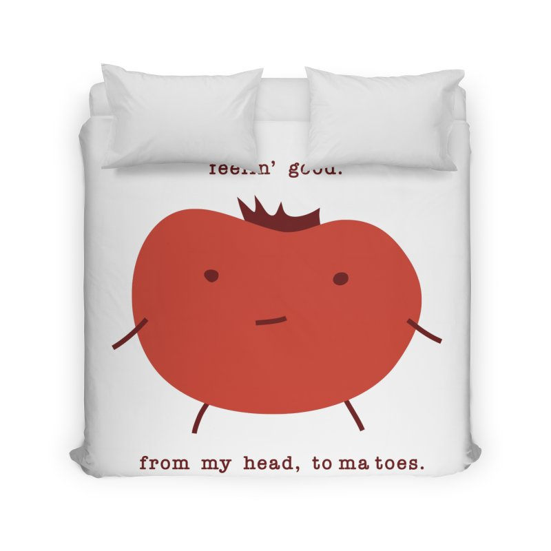 Good Feelings Tomato Home Duvet by eleventy-five's Shop
