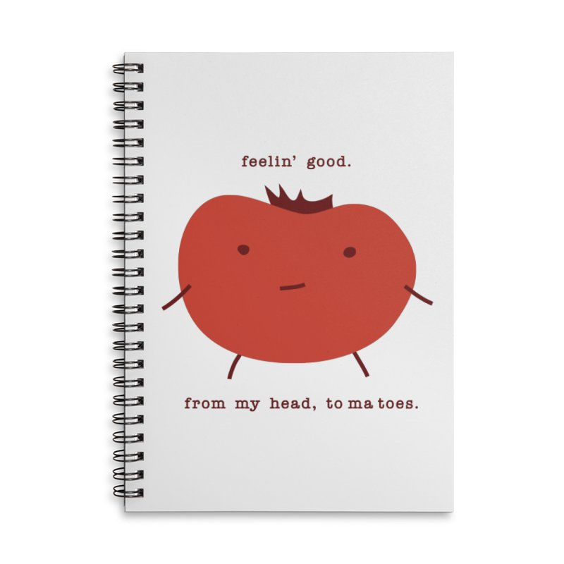 Good Feelings Tomato Accessories Lined Spiral Notebook by eleventy-five's Shop