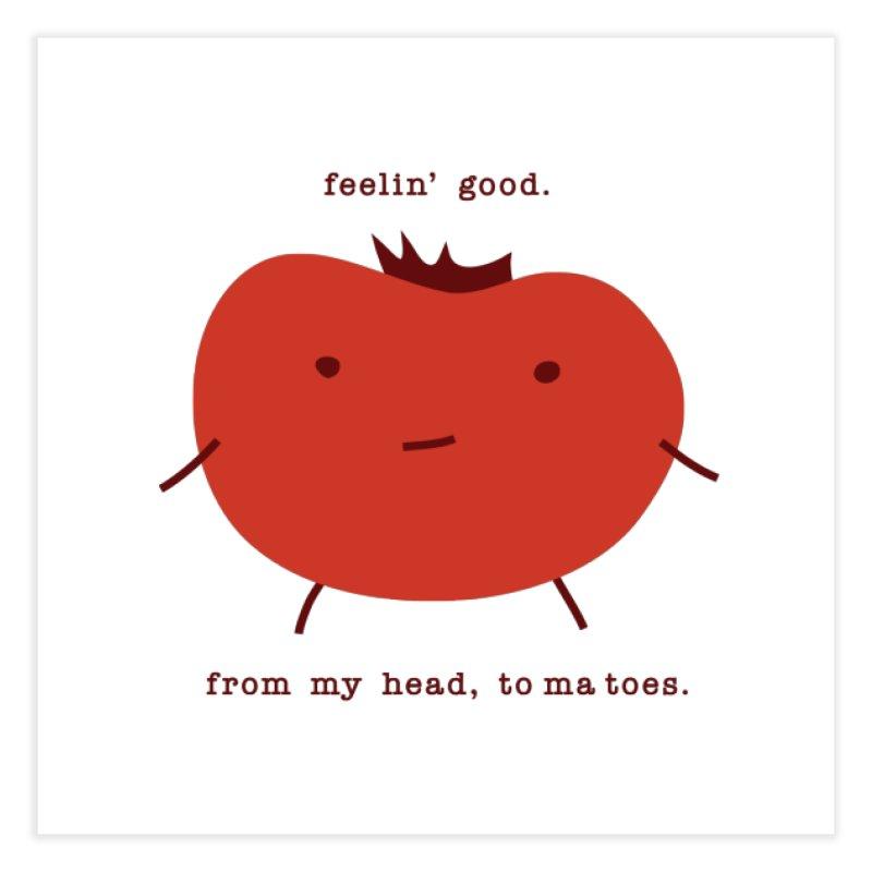 Good Feelings Tomato Home Fine Art Print by eleventy-five's Shop