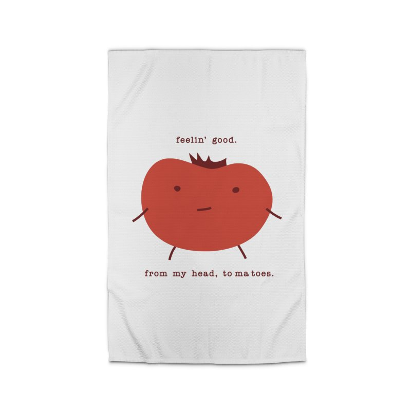 Good Feelings Tomato Home Rug by eleventy-five's Shop