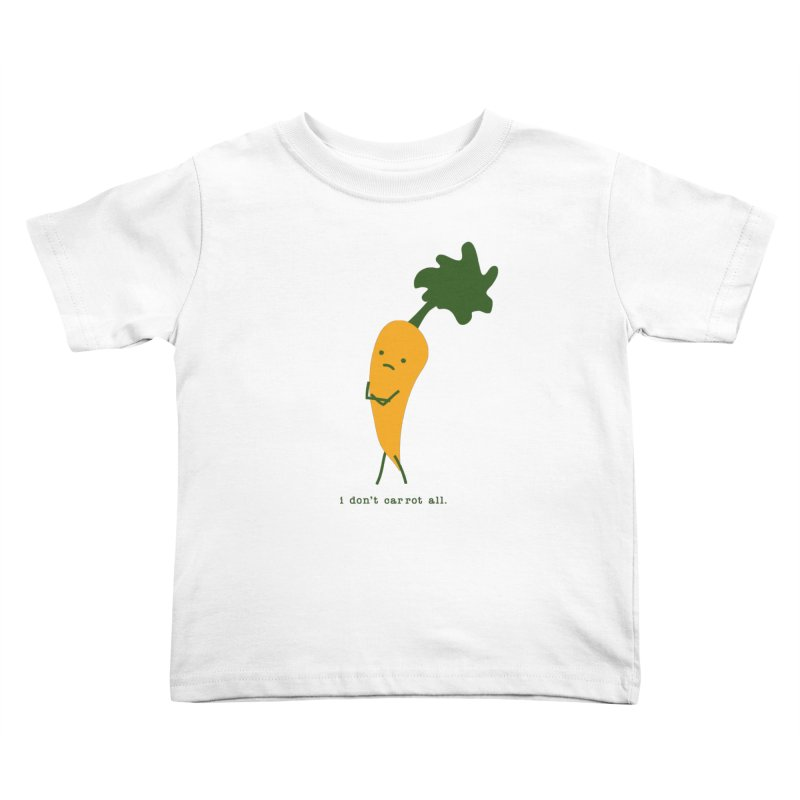 Don't Care Carrot Kids Toddler T-Shirt by eleventy-five's Shop