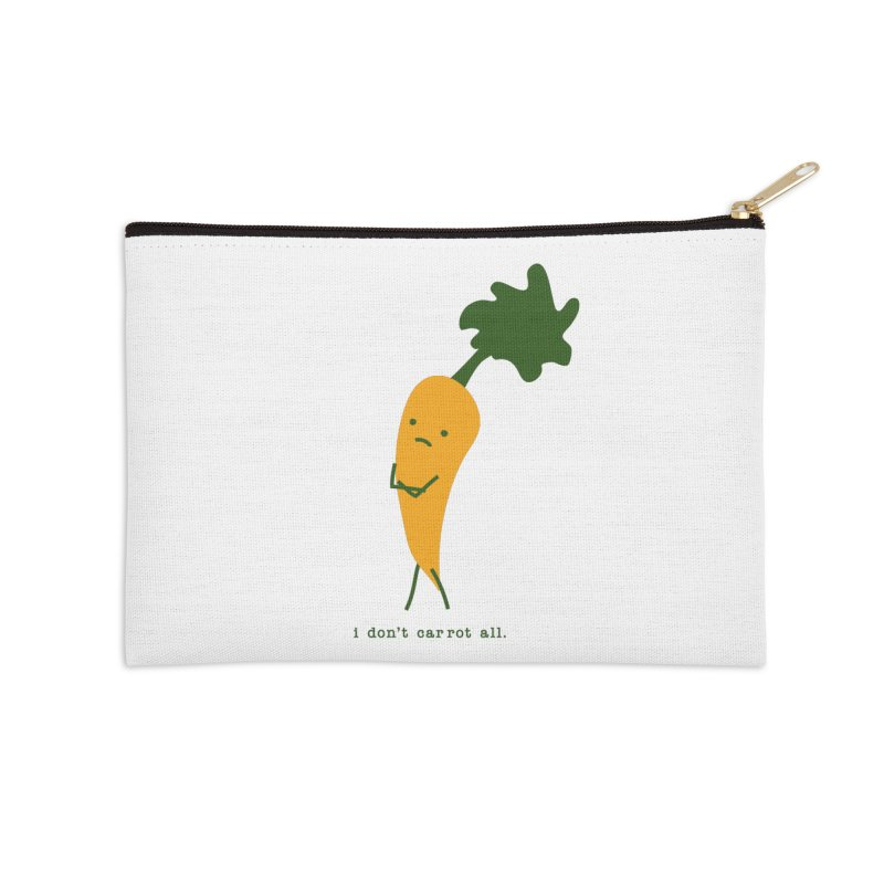 Don't Care Carrot Accessories Zip Pouch by eleventy-five's Shop