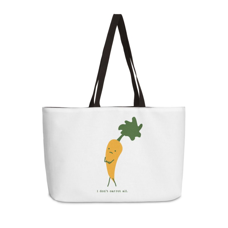 Don't Care Carrot Accessories Weekender Bag Bag by eleventy-five's Shop