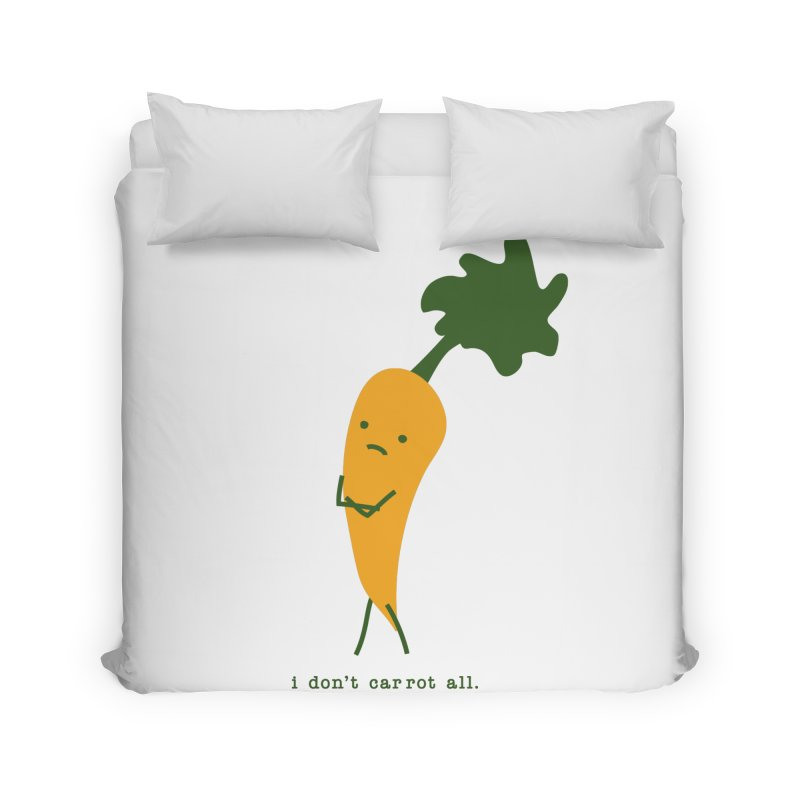 Don't Care Carrot Home Duvet by eleventy-five's Shop