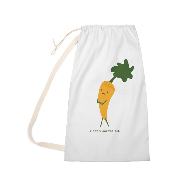 Don't Care Carrot Accessories Laundry Bag Bag by eleventy-five's Shop