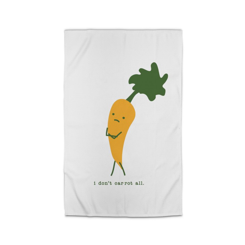 Don't Care Carrot Home Rug by eleventy-five's Shop