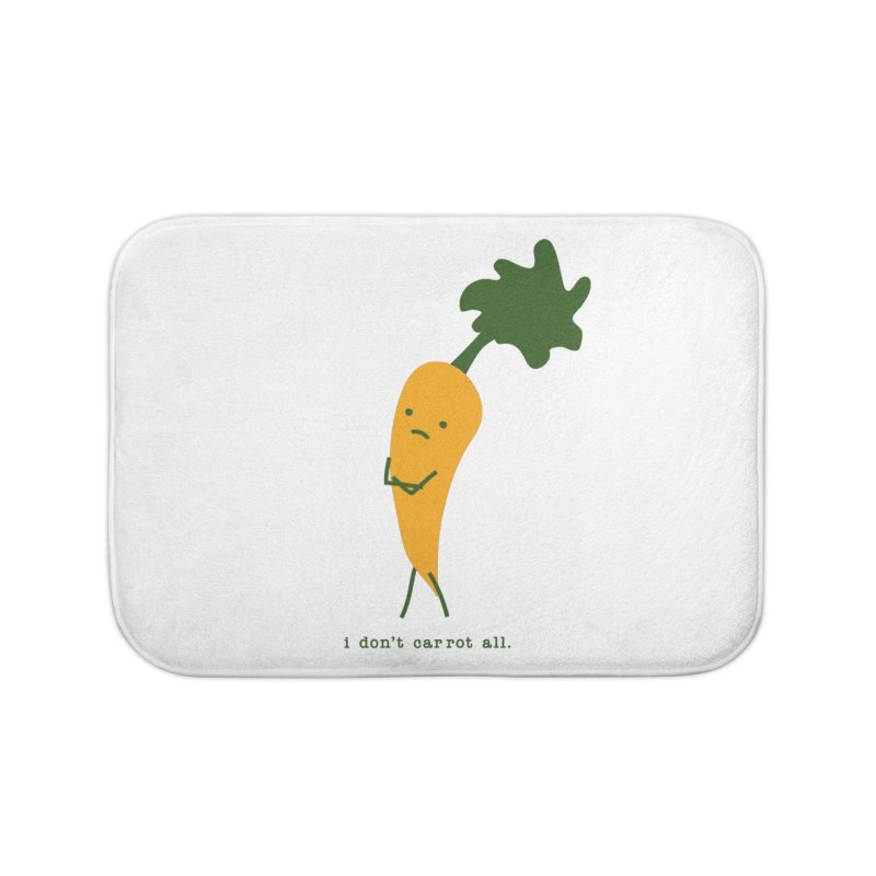 Don't Care Carrot Home Bath Mat by eleventy-five's Shop