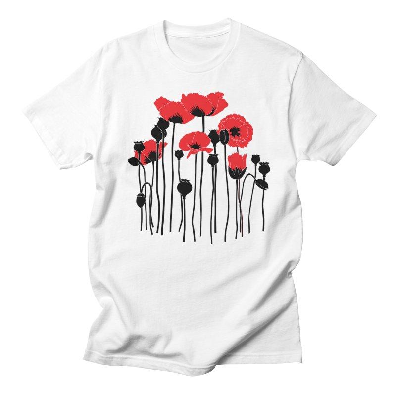 Red Poppies Women's Regular Unisex T-Shirt by eleventy-five's Shop