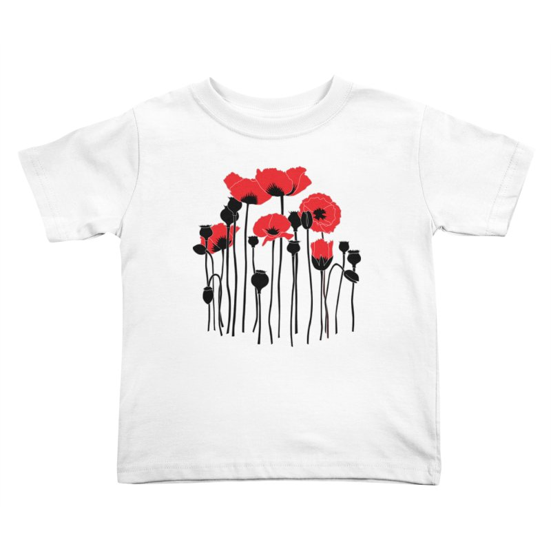 Red Poppies Kids Toddler T-Shirt by eleventy-five's Shop