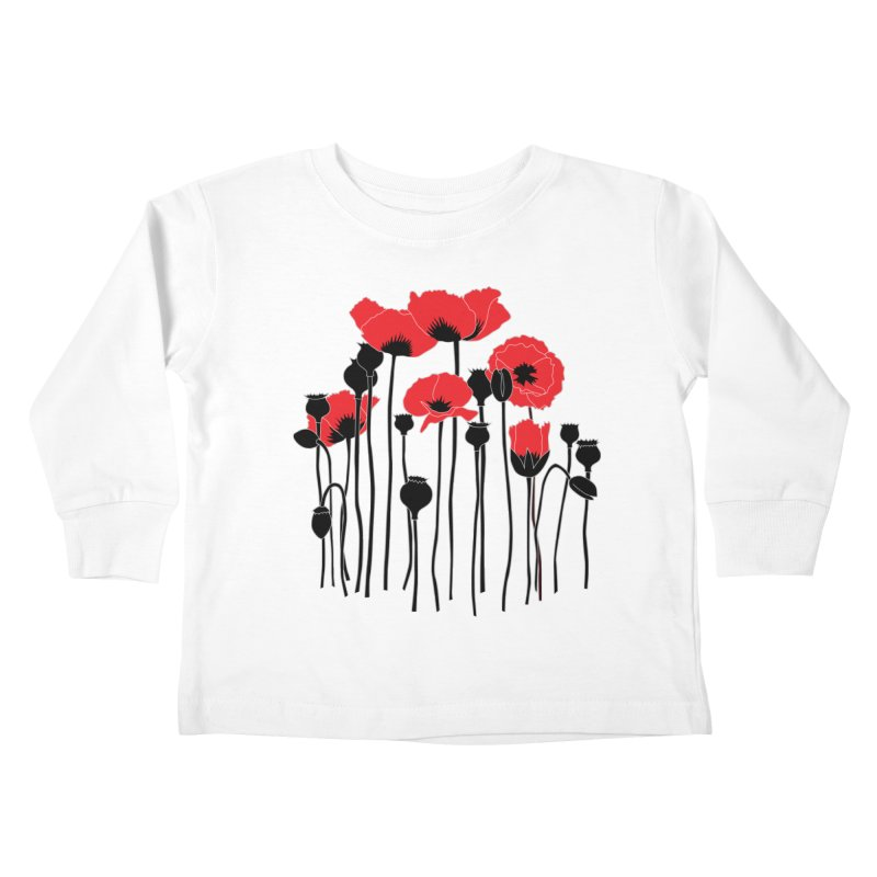 Red Poppies Kids Toddler Longsleeve T-Shirt by eleventy-five's Shop