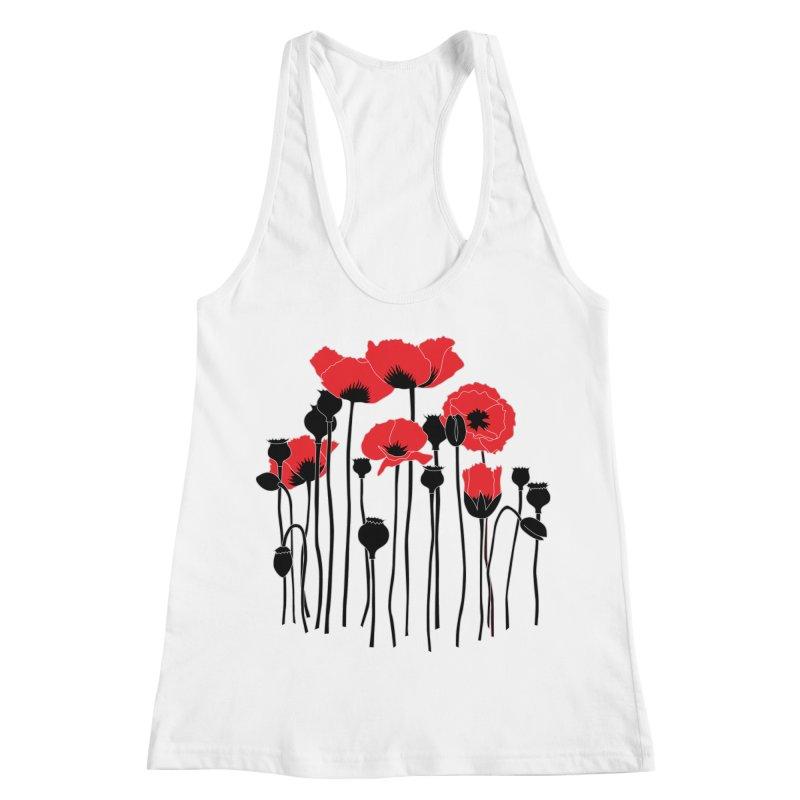 Red Poppies Women's Racerback Tank by eleventy-five's Shop