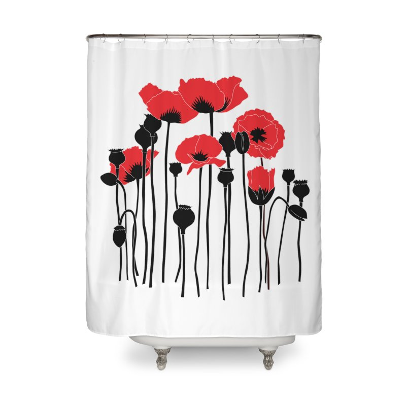 Red Poppies Home Shower Curtain by eleventy-five's Shop