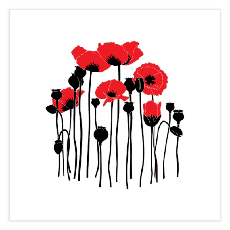 Red Poppies Home Fine Art Print by eleventy-five's Shop