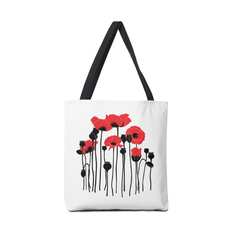 Red Poppies Accessories Tote Bag Bag by eleventy-five's Shop