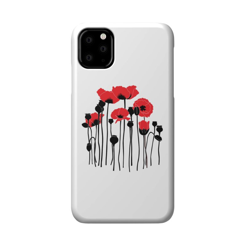 Red Poppies Accessories Phone Case by eleventy-five's Shop