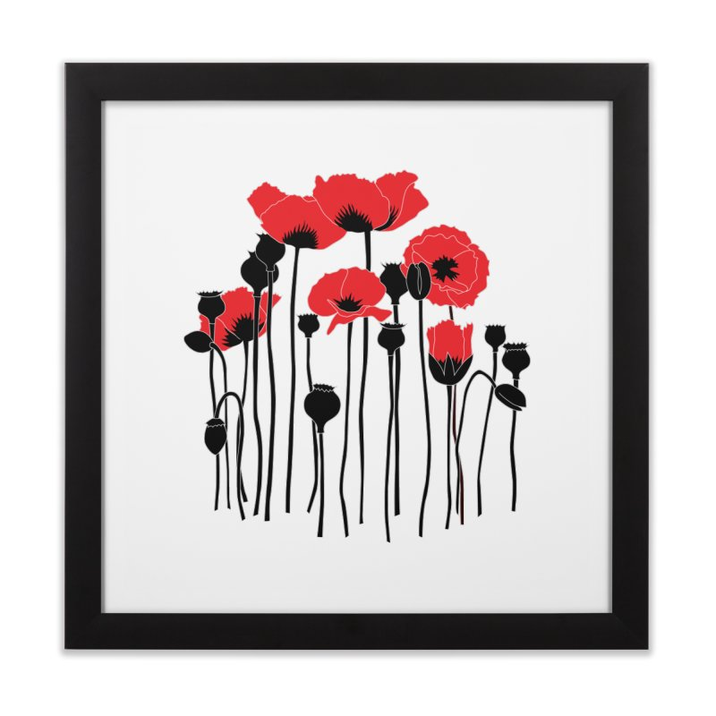 Red Poppies Home Framed Fine Art Print by eleventy-five's Shop