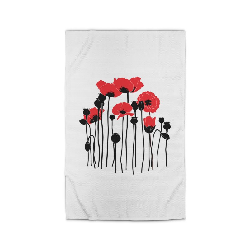 Red Poppies Home Rug by eleventy-five's Shop