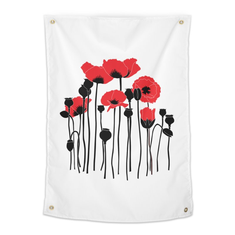 Red Poppies Home Tapestry by eleventy-five's Shop