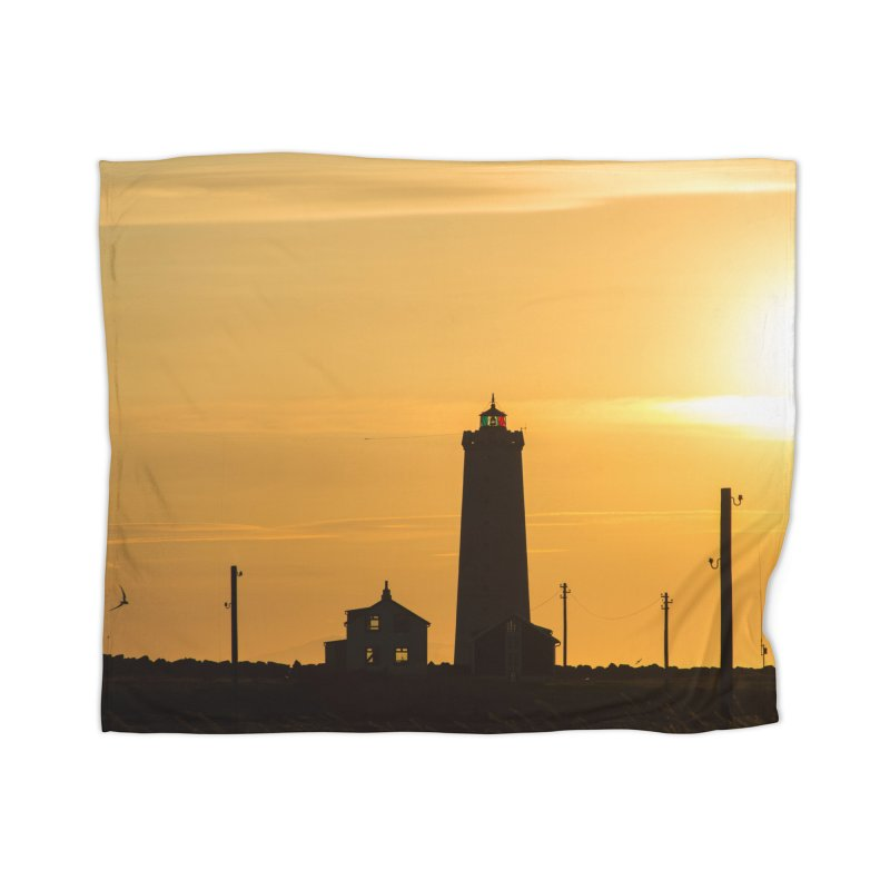 Yellow Sunset Home Blanket by ElfaFrid's Shop