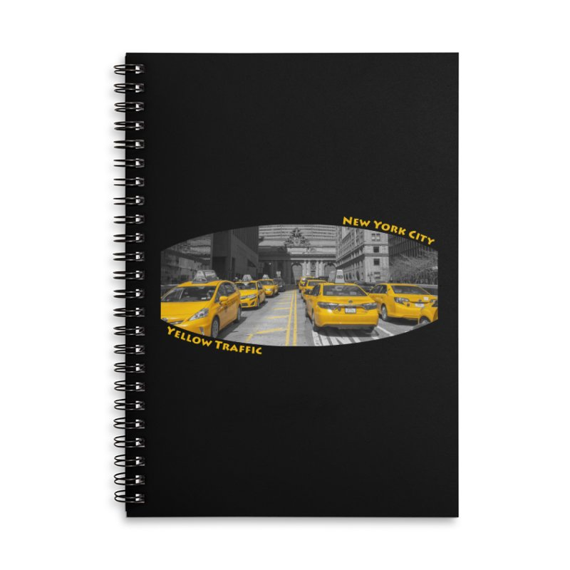Yellow Traffic Accessories Lined Spiral Notebook by ElfaFrid's Shop