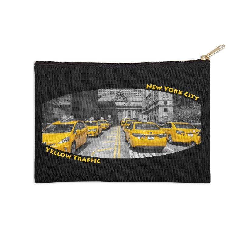 Yellow Traffic Accessories Zip Pouch by ElfaFrid's Shop