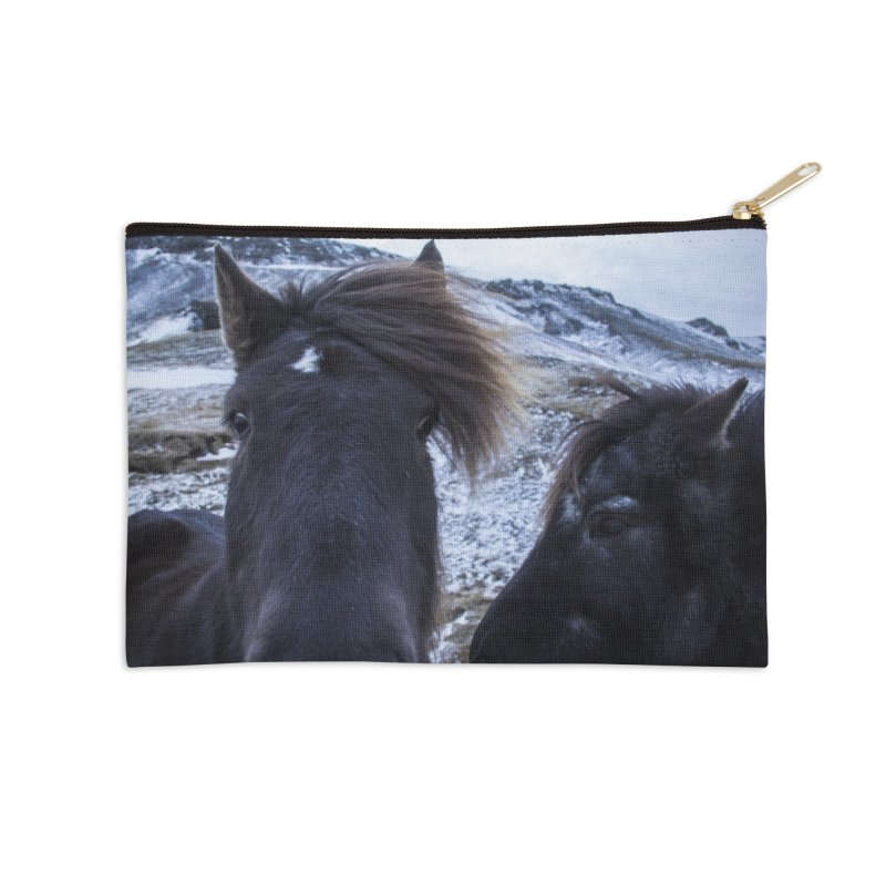 Icelandic Horsepower Accessories Zip Pouch by ElfaFrid's Shop