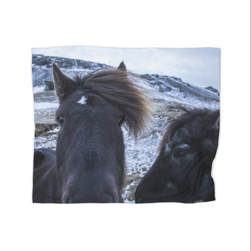 Icelandic Horsepower Home Fleece Blanket Blanket by ElfaFrid's Shop