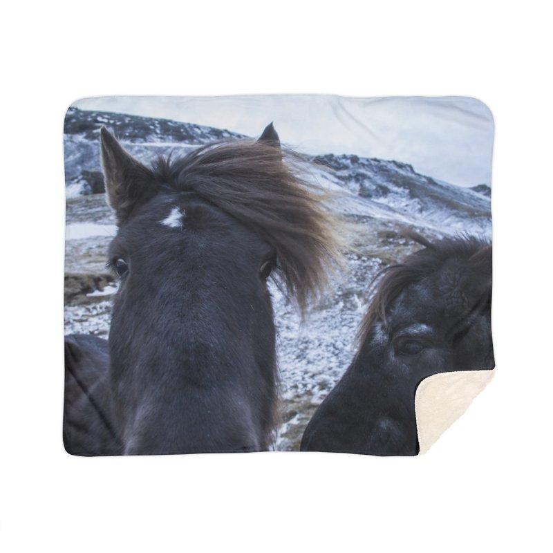 Icelandic Horsepower Home Blanket by ElfaFrid's Shop